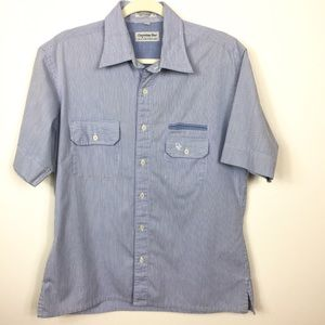 Vintage Christian Dior Short Sleeve Shirt L E 0669
